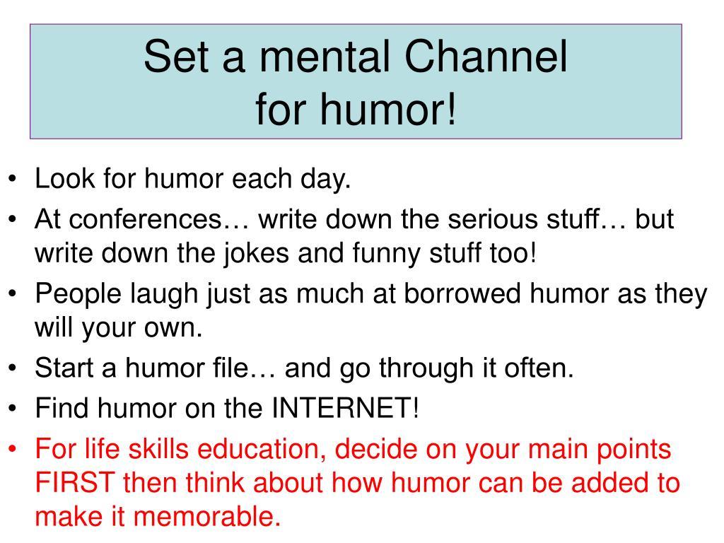 Set a mental Channel