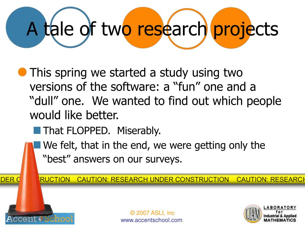 A tale of two research projects