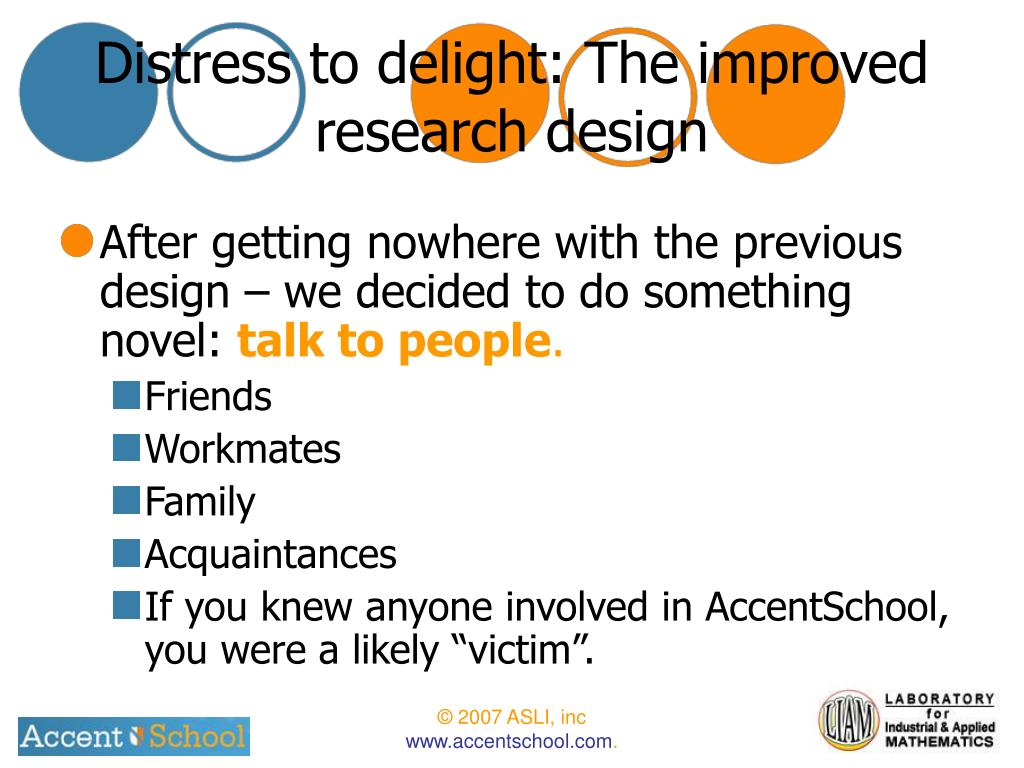 Distress to delight: The improved research design