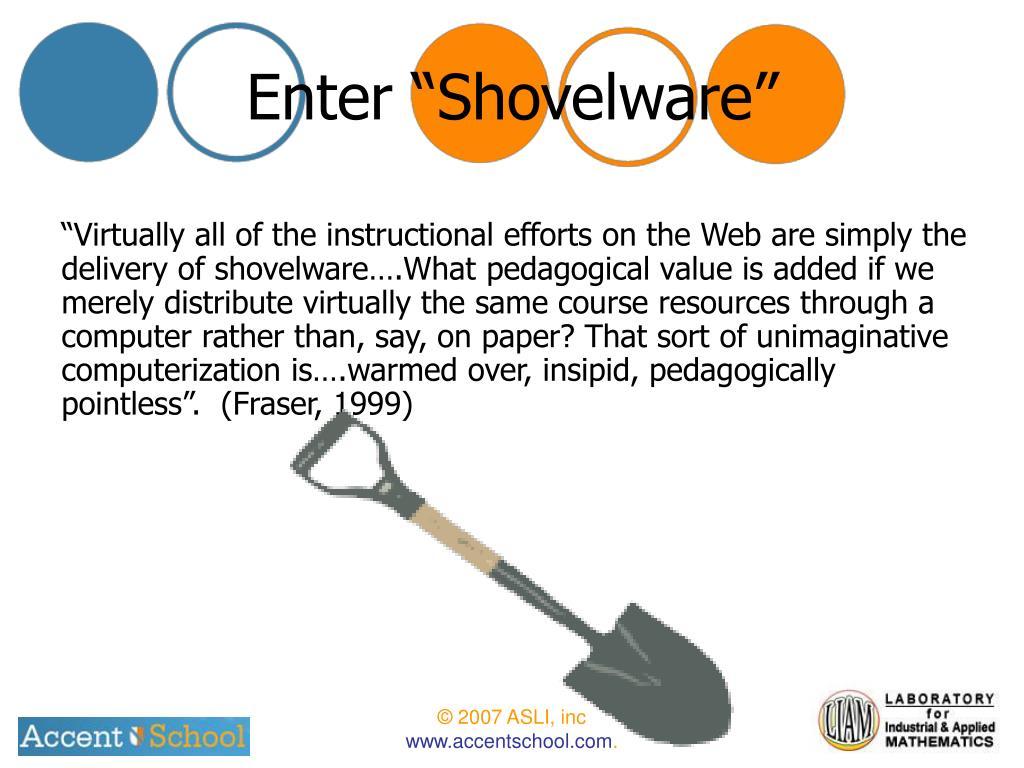 """Enter """"Shovelware"""""""