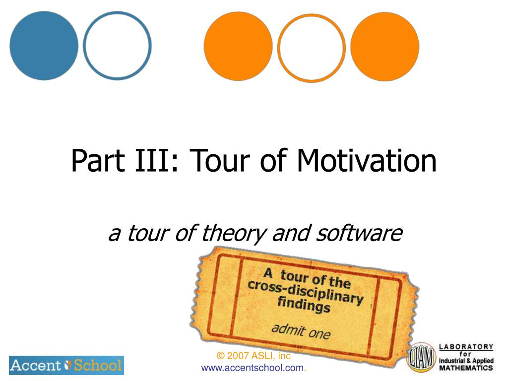 Part III: Tour of Motivation