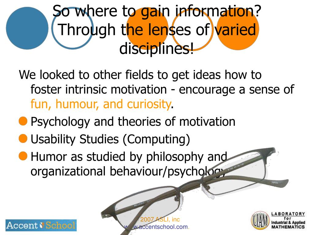 So where to gain information?  Through the lenses of varied disciplines!