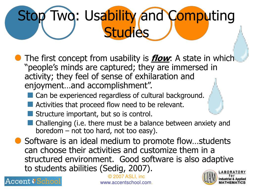 Stop Two: Usability and Computing Studies