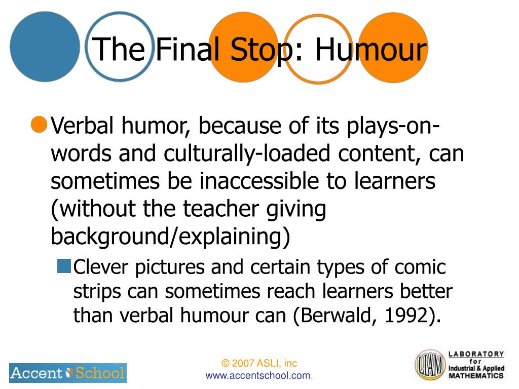 The Final Stop: Humour