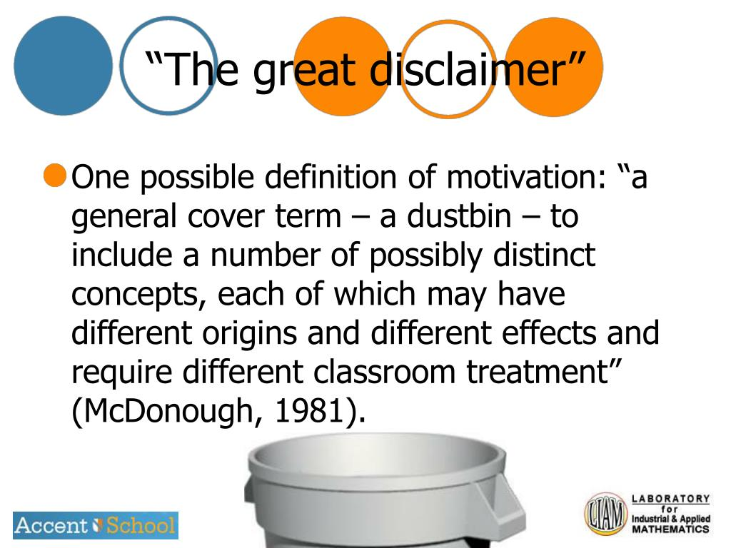 """The great disclaimer"""