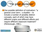 the great disclaimer
