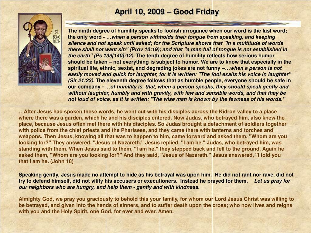 April 10, 2009 – Good Friday