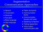 augmentative communication approaches