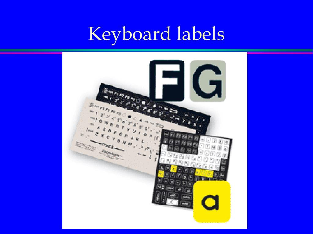 Keyboard labels