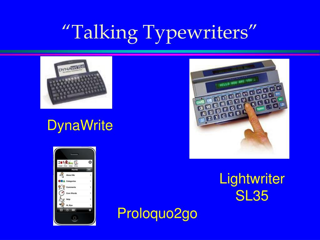 """Talking Typewriters"""
