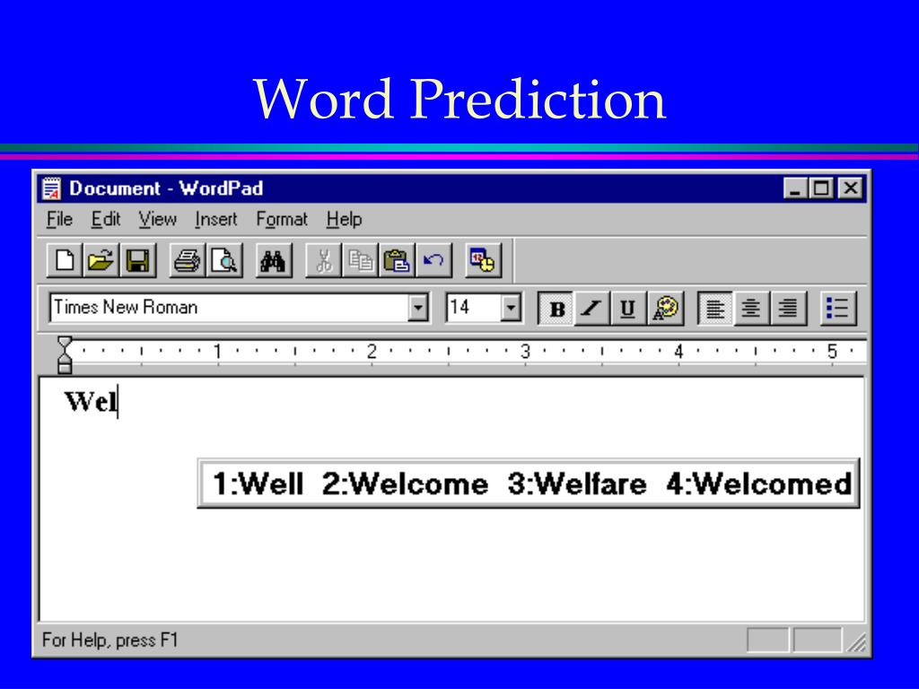 Word Prediction