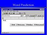 word prediction