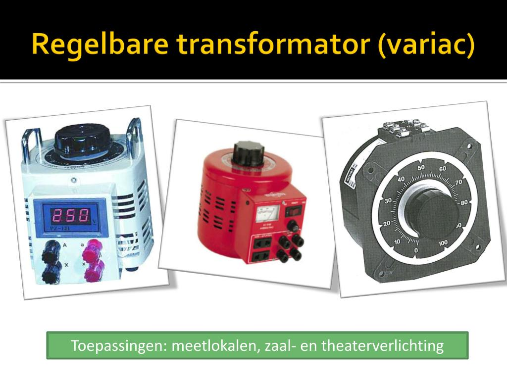 Regelbare transformator (