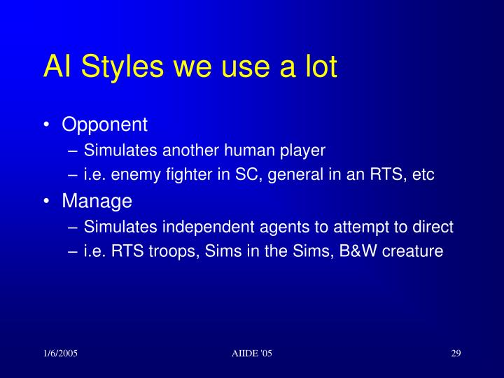 AI Styles we use a lot