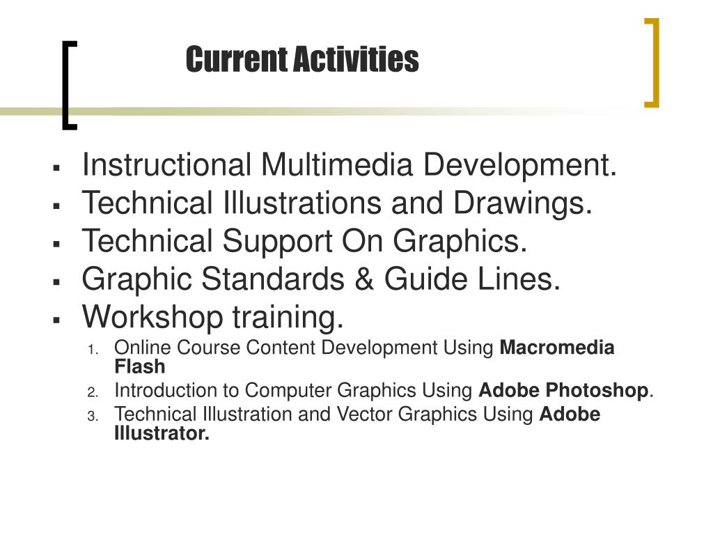 Instructional Multimedia Development.