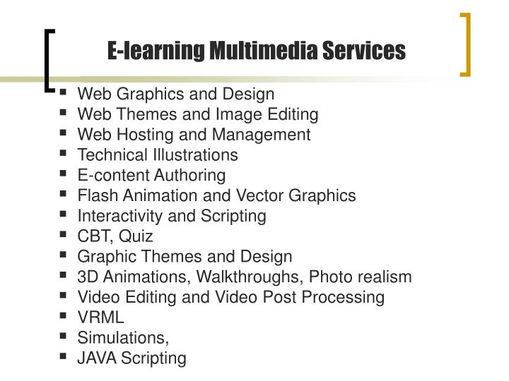 E-learning Multimedia Services