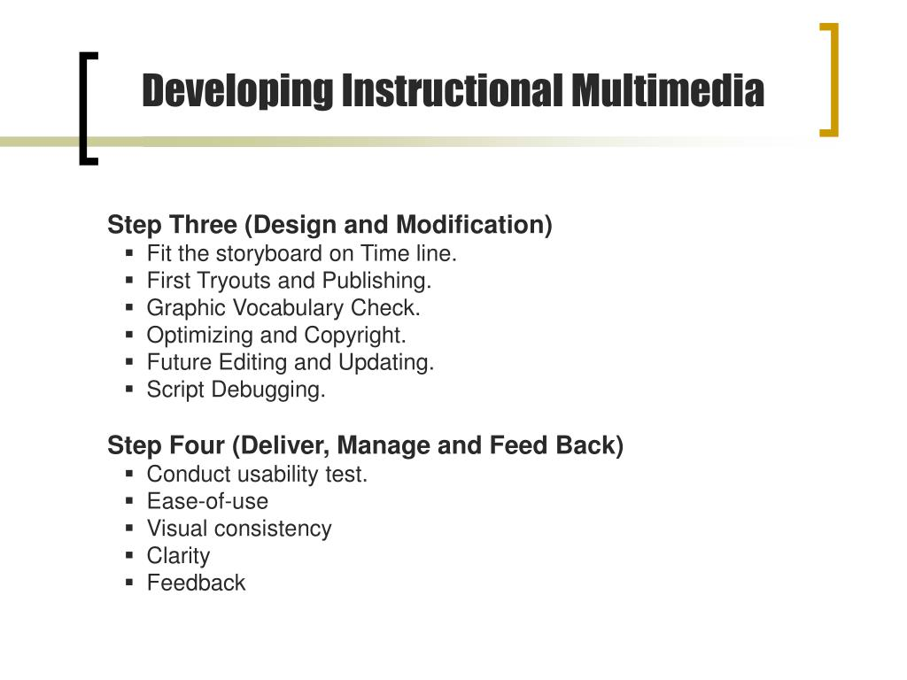 Developing Instructional Multimedia