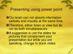 presenting using power point