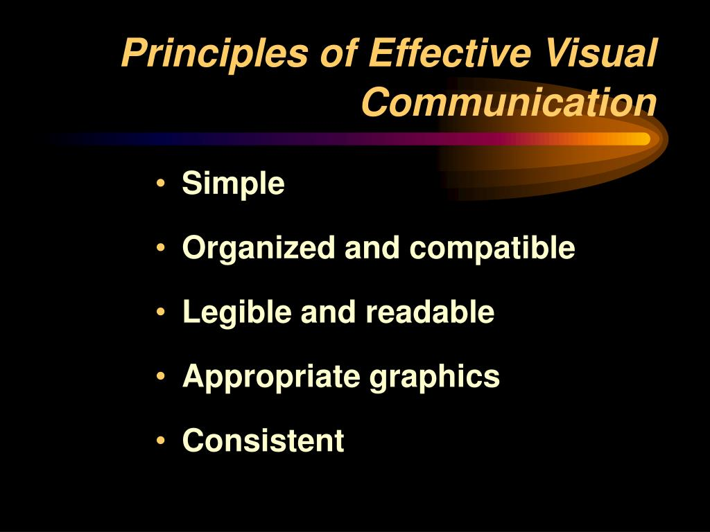 Principles of Effective Visual Communication