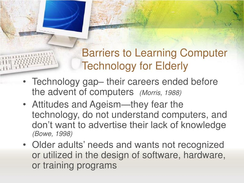 Computer learning for older adults