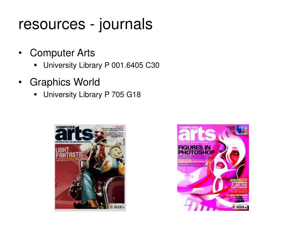 resources - journals