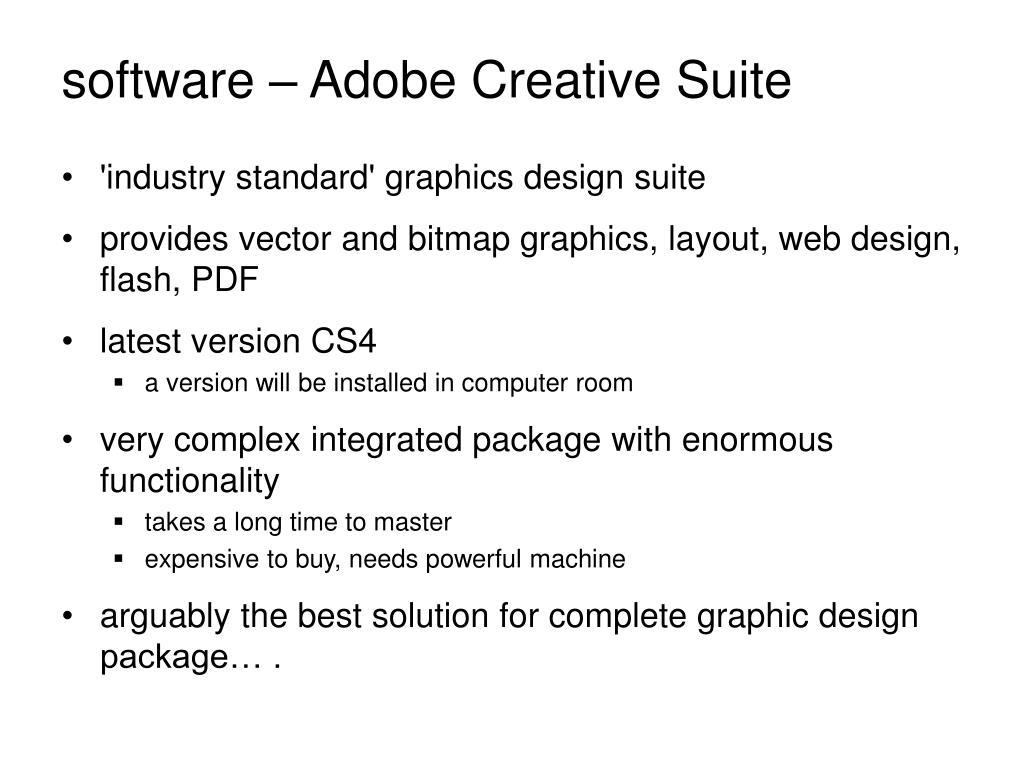 software – Adobe Creative Suite
