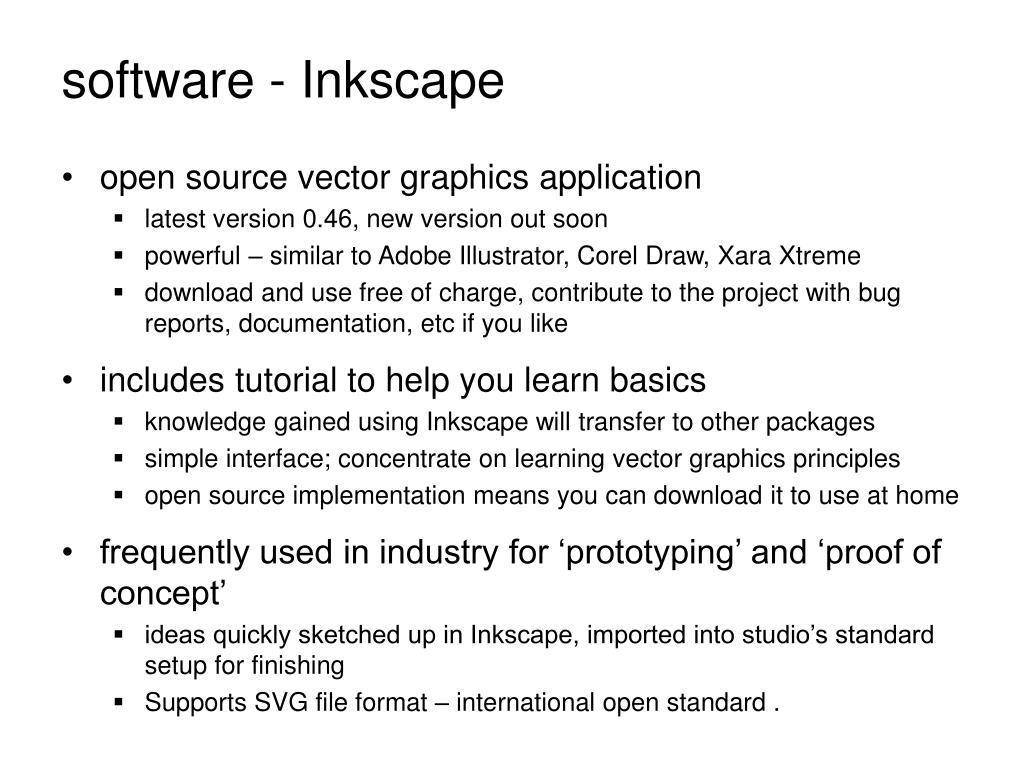 software - Inkscape