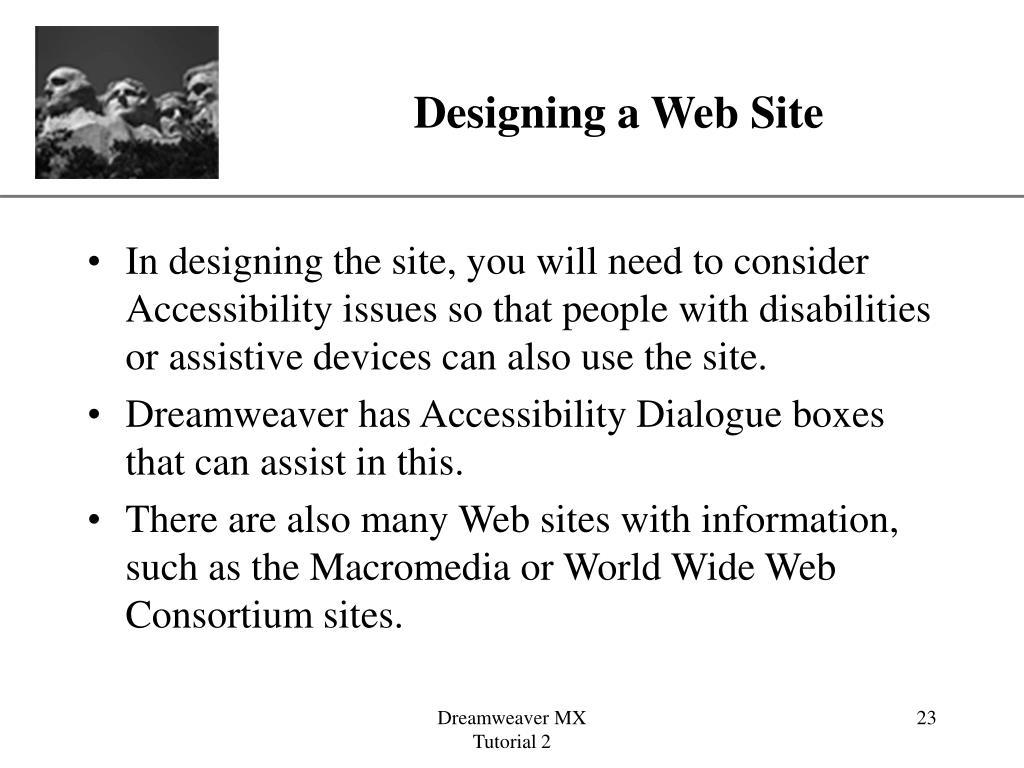 Designing a Web Site