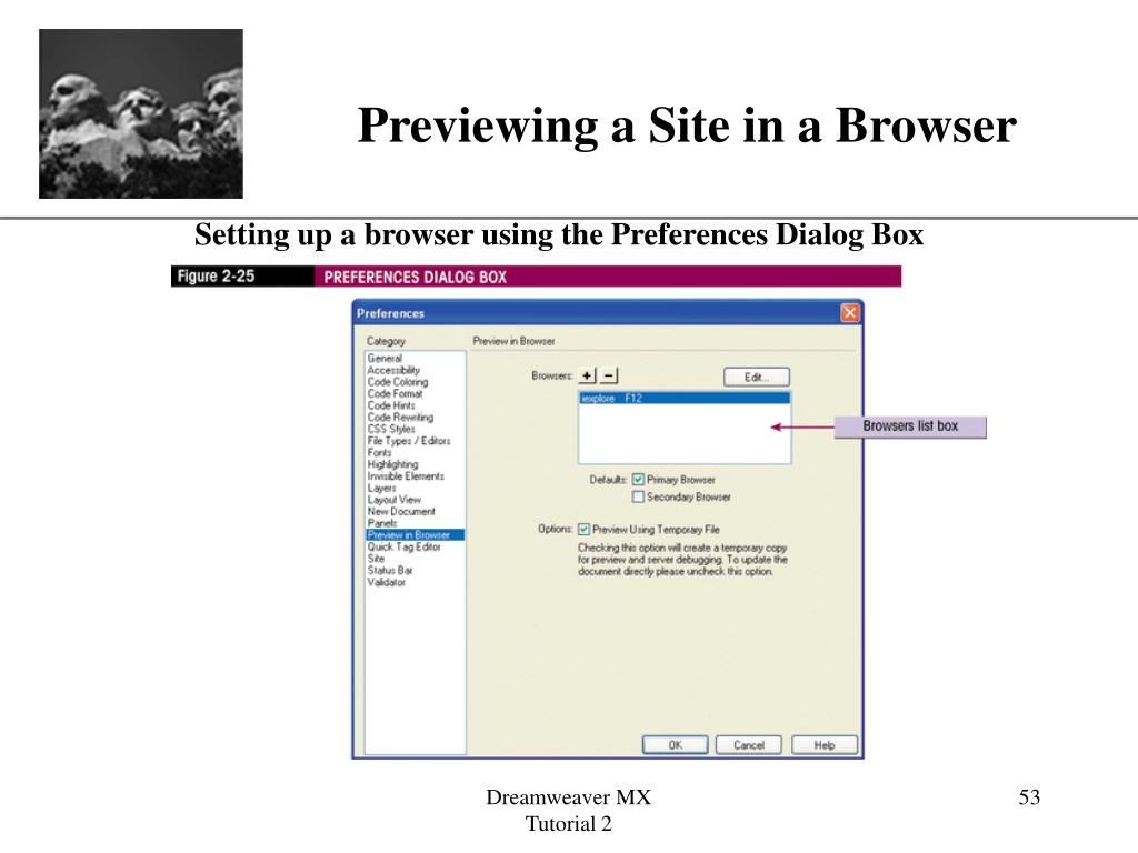 Previewing a Site in a Browser