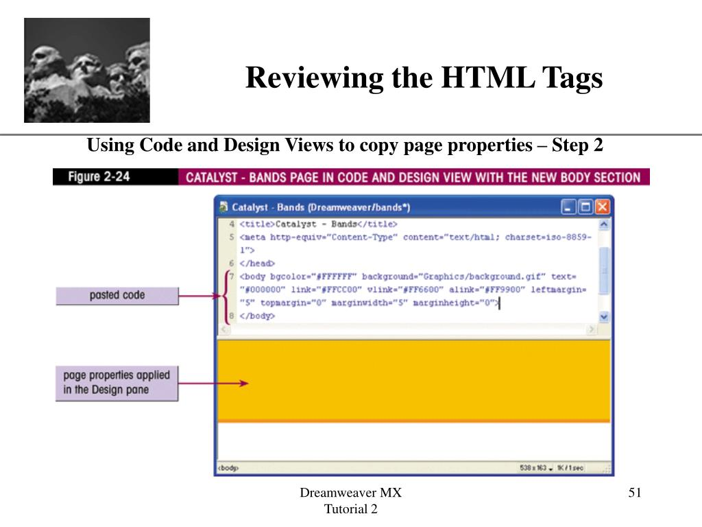 Reviewing the HTML Tags