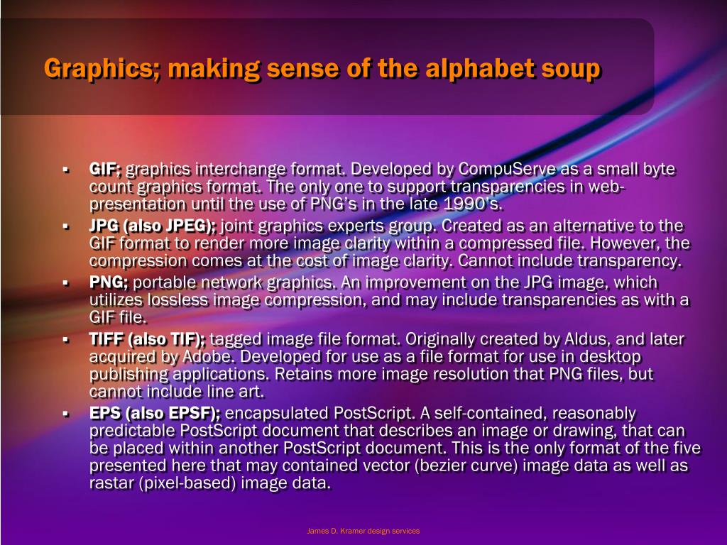 Graphics; making sense of the alphabet soup