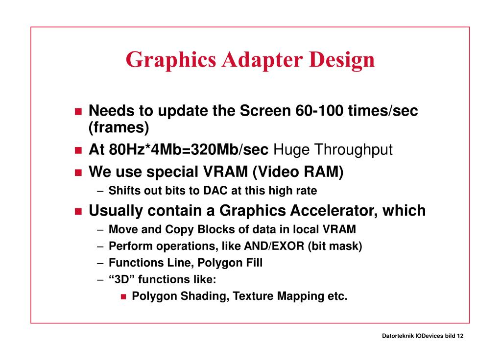 Graphics Adapter Design