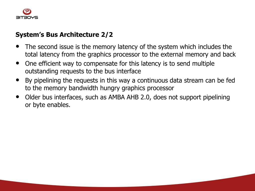 System's Bus Architecture 2/2