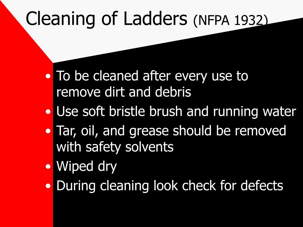 Cleaning of Ladders
