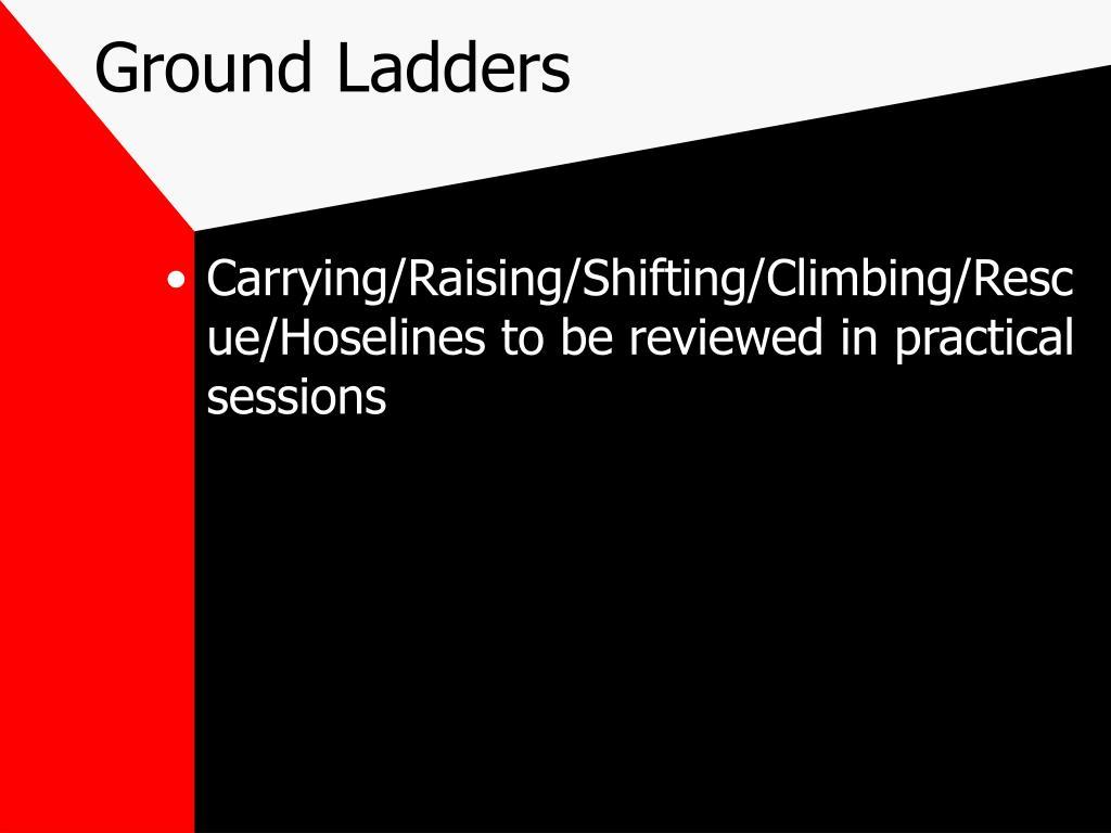 Ground Ladders