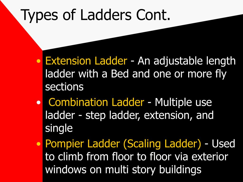 Types of Ladders Cont.