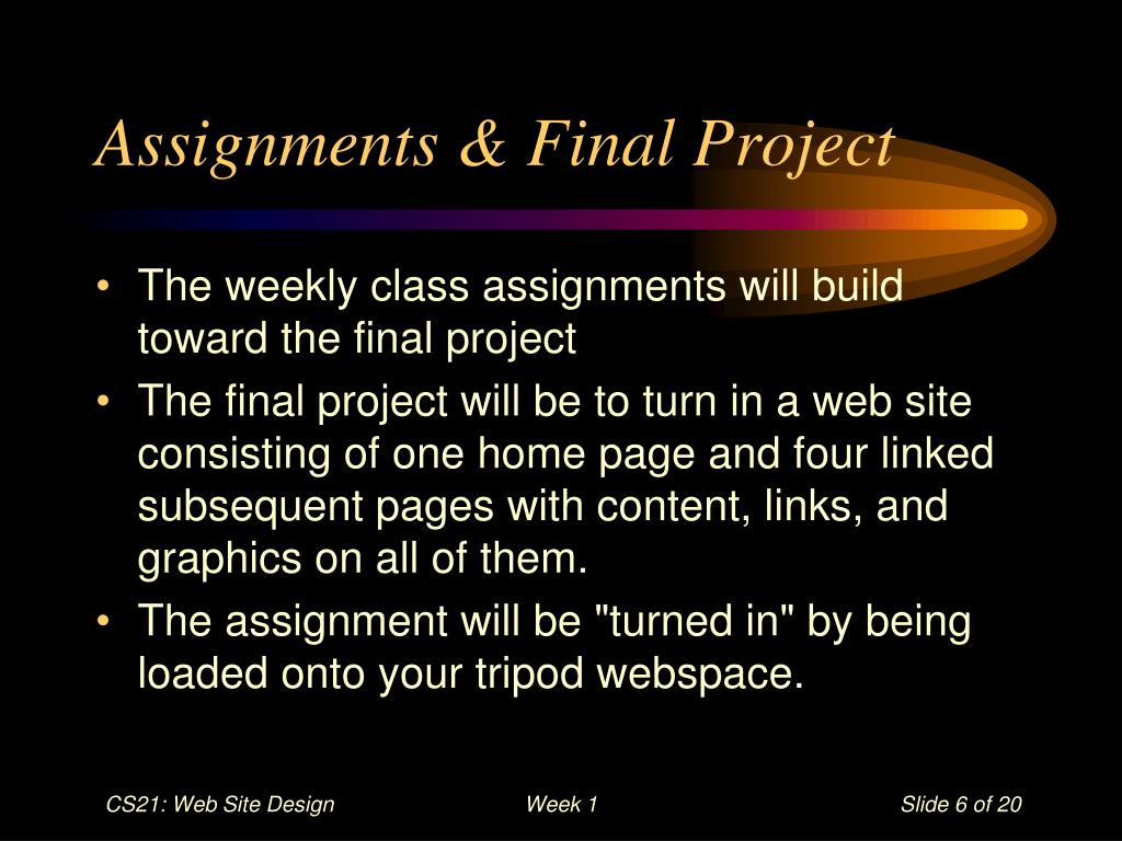 Assignments & Final Project