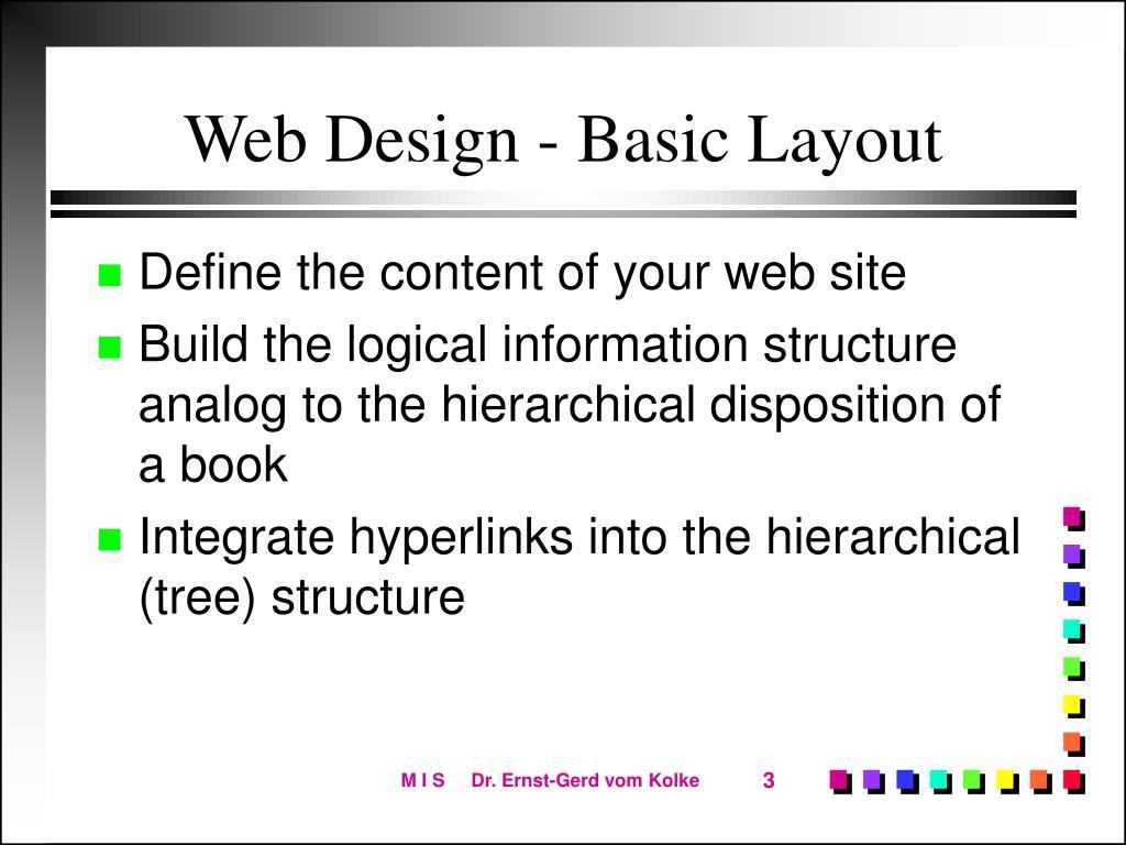 Web Design - Basic Layout