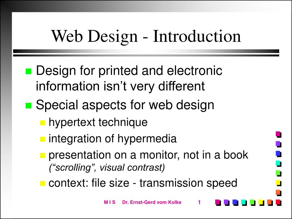 Web Design - Introduction