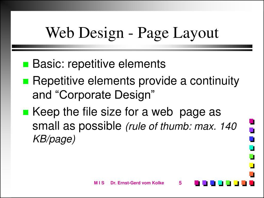 Web Design - Page Layout