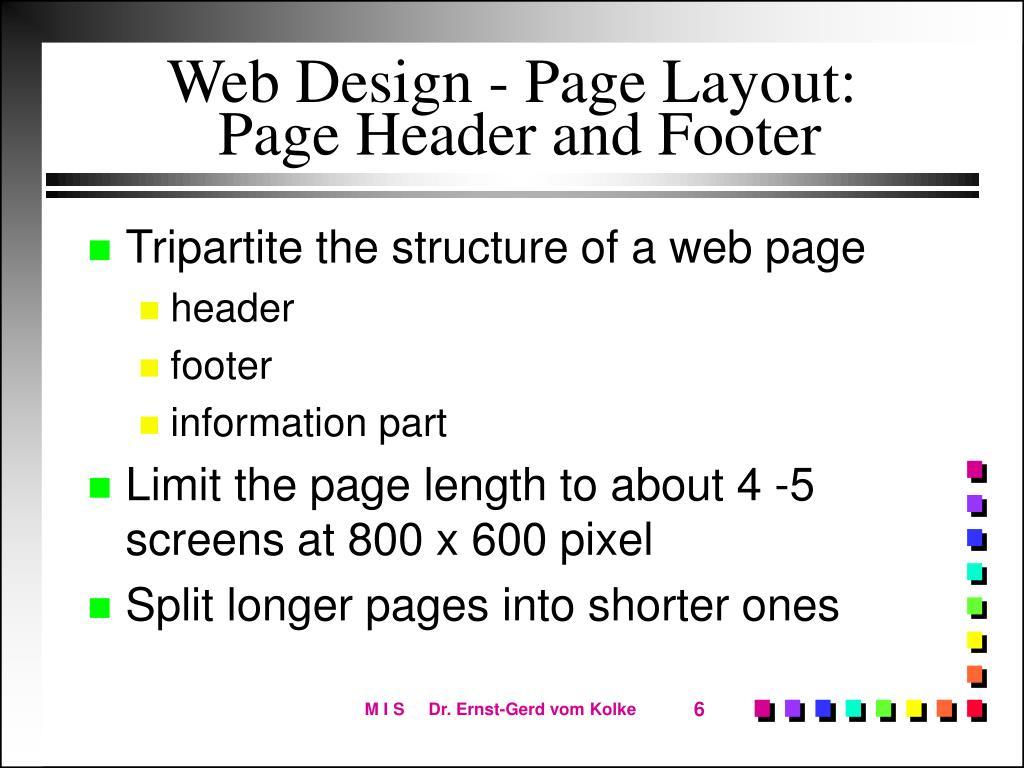 Web Design - Page Layout: