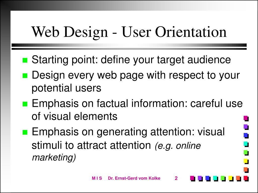 Web Design - User Orientation