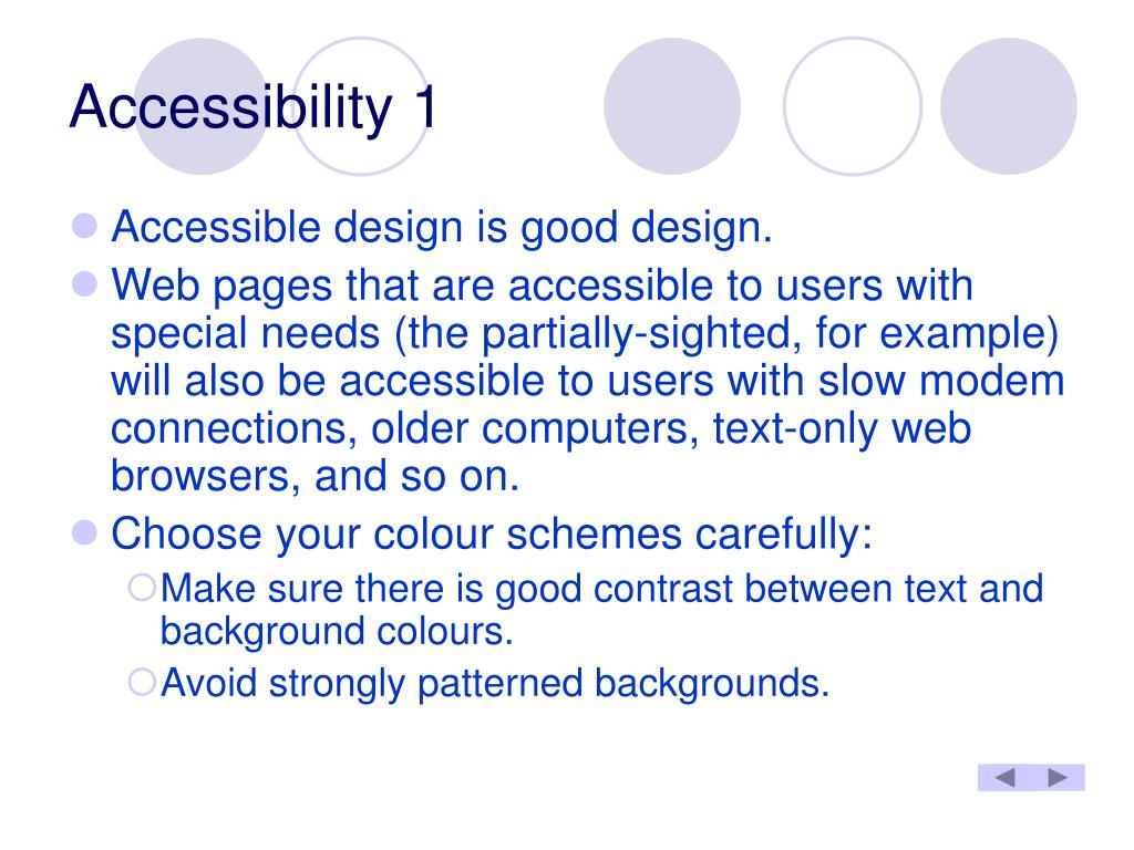 Accessibility 1