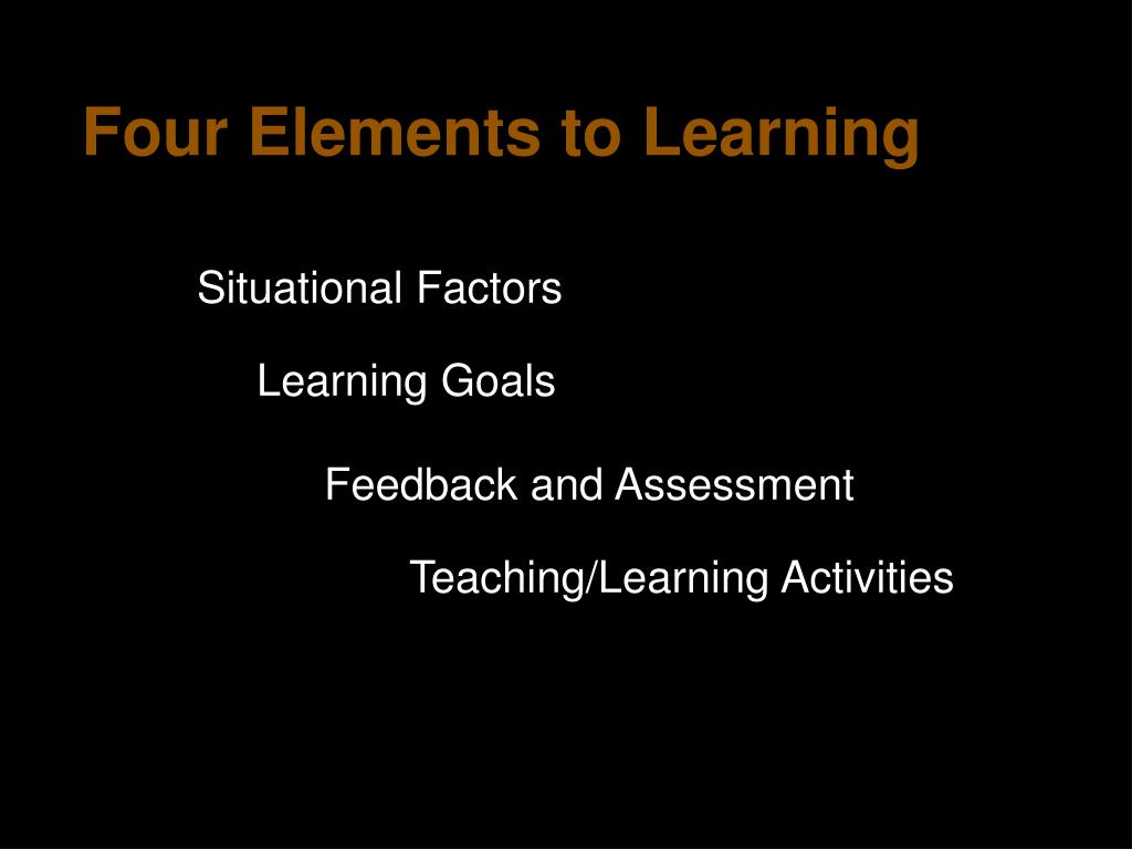 Four Elements to Learning
