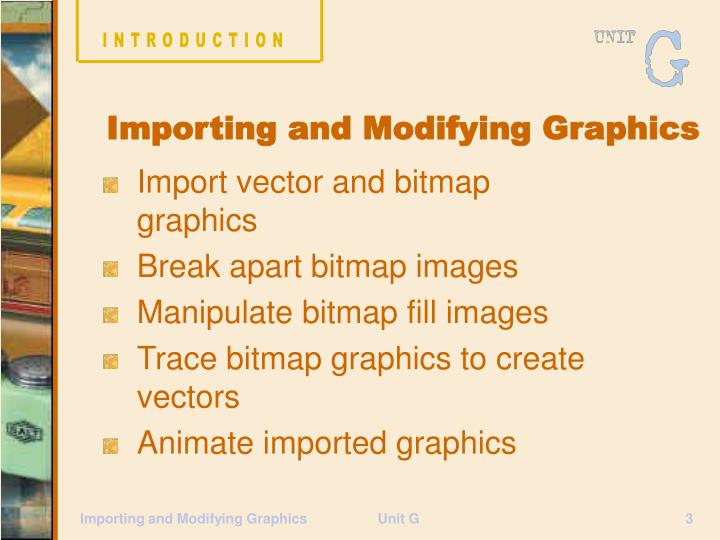 Importing and modifying graphics