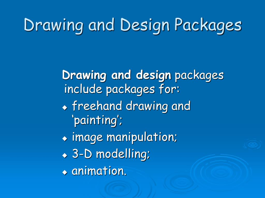 Drawing and Design Packages