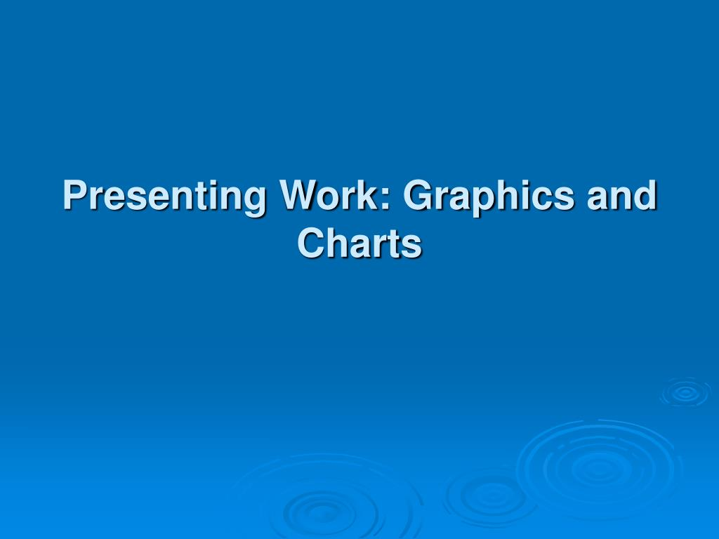 presenting work graphics and charts