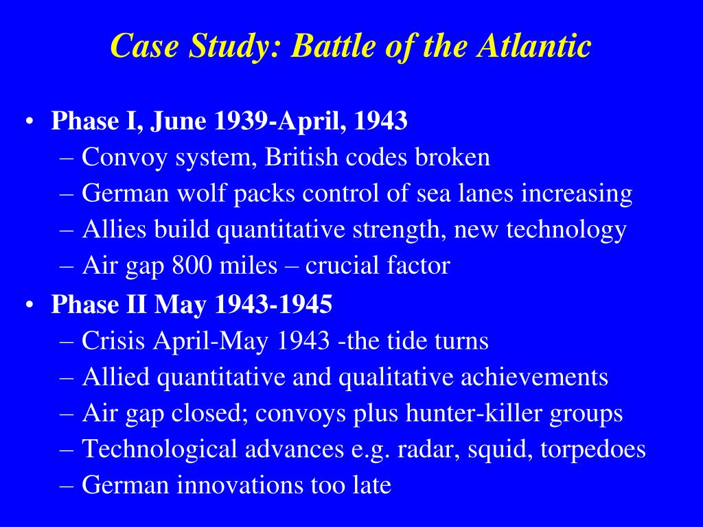 Case Study: Battle of the Atlantic