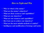 how to fight and win