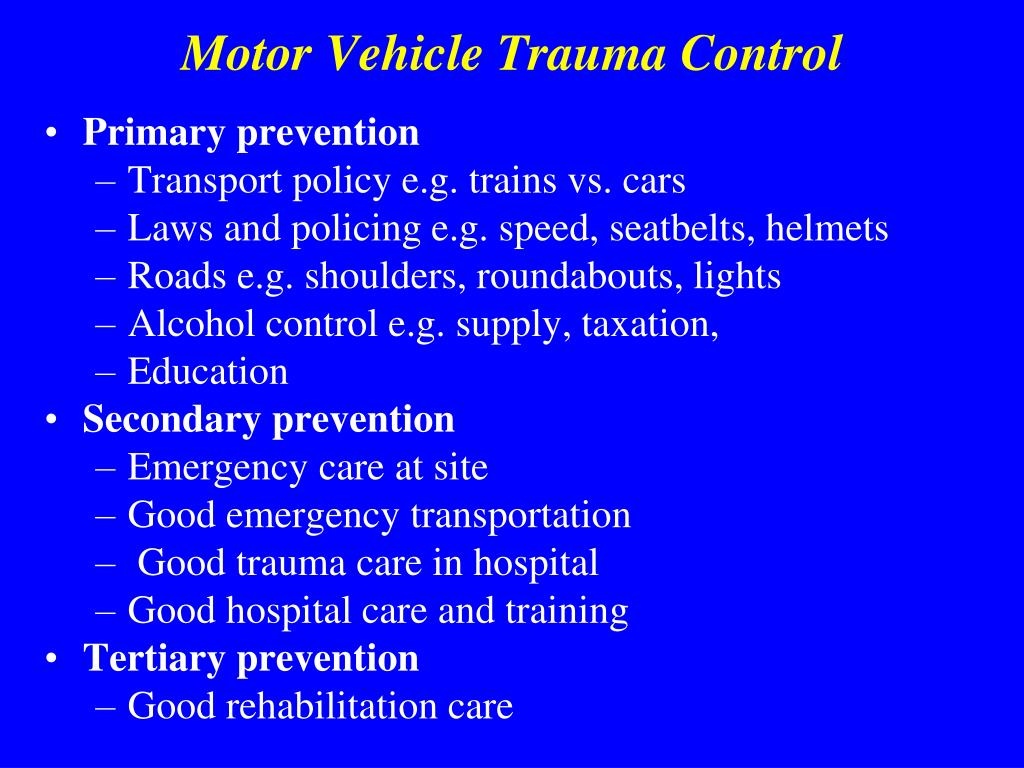 Motor Vehicle Trauma Control